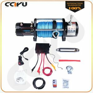 Electric Winch 13000lbs 12v Durable Remote Control Off Road For 02 10 Hummer