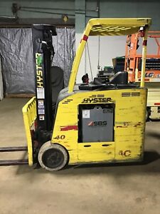 2013 Hyster E40hsd2 18 Electric Stand up Forklift Dock Stocker