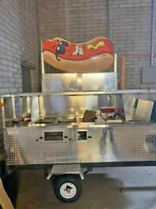 Large Stainless Hot Dog Food Vending Cart For Sale In Arizona