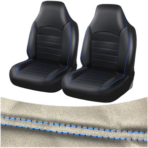 Universal Front Bucket Car Seat Cover 2pcs Leather Seat Protection Accessories