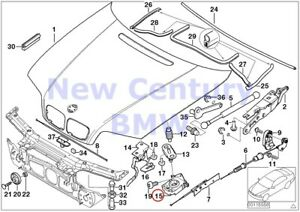 Bmw Genuine Engine Hood Mounting Parts Lower Part Of Hood Lock E46