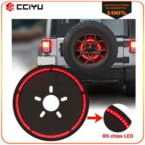For Jeep Wrangler 07 2018 Spare Tire Brake Light Led Third Brake Light Lamp Ring