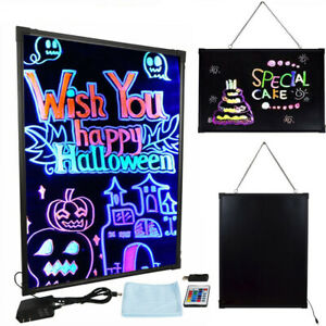 Illuminated Erasable Neon Led Message Writing Board Restaurant Menu Sign Remote