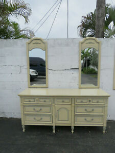 French Painted Dresser Bathroom Vanity Tv Console With 2 Mirrors By Dixie 9685x