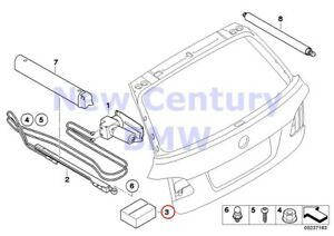 Bmw Genuine Trunk Lid Hydraulic Parts Hydro Unit With Oil Set Of Small Parts E61