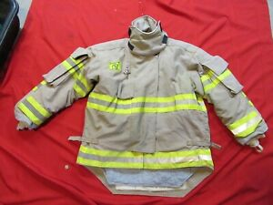 Morning Pride Firefighter Bunker Turnout Jacket 44 Chest 32 Sleeve Snap In Liner