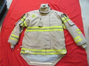 Morning Pride Firefighter Bunker Turnout Jacket 48 Chest 35 Sleeve Snap In Liner