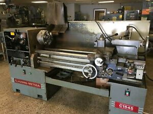 15 X 45 Clausing metosa Model C1545 Geared Head Gap Bed Engine Lathe