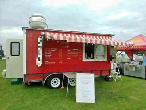 Clean Food Concession Trailer Ready To Work Mobile Kitchen Unit For Sale In Te