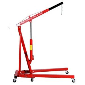 2 Ton 4000 Lb Shop Crane Cherry Picker Engine Hoist Lifting Tool Folding