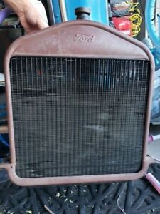 1927 Ford Model Tt Original Radiator With New Never Used Core 800
