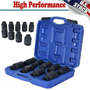 Deep Impact Socket Set 29mm 38mm 9 Pcs 1 2 Drive Metric Axle Hub Nut Socket New