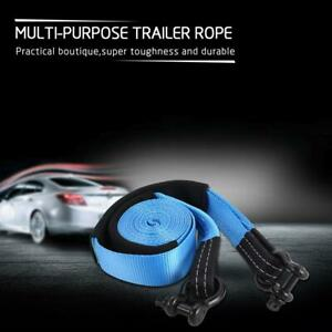 3 20000 Lbs Auto Car Suv Tow Strap Rope 20 Ft Winch Snatch Recovery