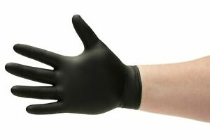 Shield Black Nitrile Industrial Latex Free Disposable Gloves box Of 100