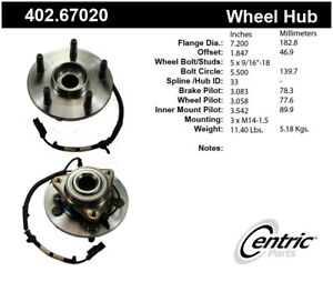 Premium Axle Bearing Hub Assembly Fits 2009 2009 Dodge Ram 1500 Centric Parts
