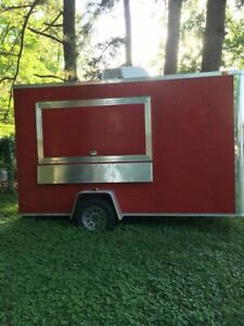 2015 6 X 12 Food Concession Trailer With 7 Indoor Standing Height For Sale