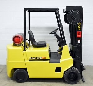 Nice Hyster 6000 Lb Lpg Forklift 6 000 S60xl Quad 4 Way Clamp Ready