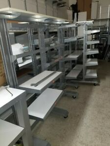 Heavy Duty Retail Store Mobile Display Rack Shelves And Non Movable Racks