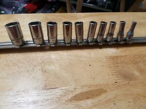 Snap On 112tmmsy 1 4 Dr 5 15mm 6 Pt Metric Mid Semi Deep Socket Set