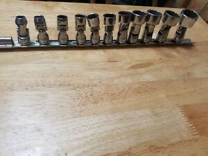 Snap on Tools 3 8 Drive 12 point Universal Shallow Socket Set 11pc
