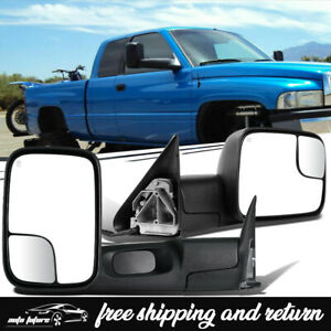 2 Tow Mirrors For 98 01 Dodge Ram 1500 98 02 2500 3500 Power Heated Latest Style