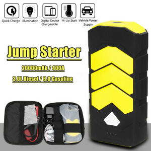 20000mah 400a Car Jump Starter Booster Usb Power Bank Battery Charger Led Torch
