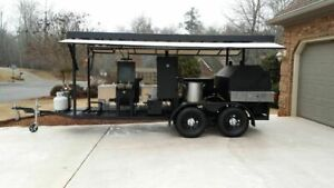 2014 7 X 20 Commercial Bbq Smoker And Grill Trailer For Sale In Georgia