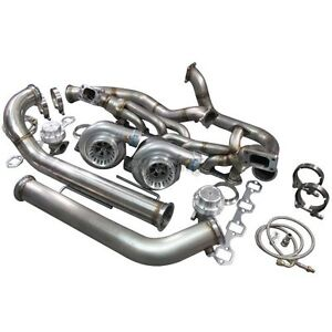 Cxracing Twin Turbo Kit For 79 93 Ford Foxbody Mustang 5 0l Dual Gt35 900 Hp