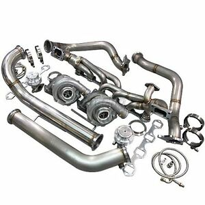 Cxracing Twin Turbo Kit For 79 93 Ford Foxbody Mustang 5 0l Dual T04e 700 Hp