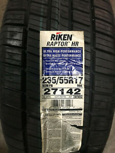 4 New 235 55 17 Riken Raptor Hr Tires