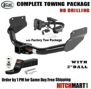 Fits 2014 2017 Jeep Grand Cherokee Class 3 Trailer Hitch Package W 2 Ball 13182