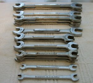 Vintage Craftsman Double Open End Wrench V Vv Series Sae Usa Made Lot Of 16
