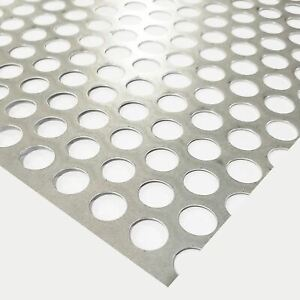 Galvanized Steel Perforated Sheet 0 028 X 24 X 48 1 2 Holes