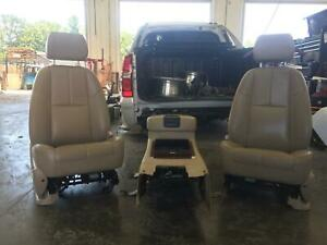 2008 Chevrolet Avalanche 1500 Front Seat Set bucket bench electric Leather