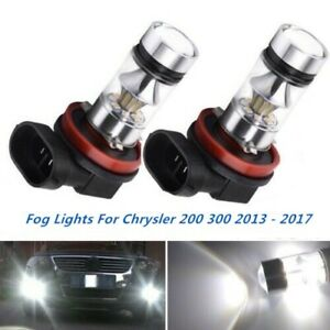 2x 100w Fog Lights For Chrysler 200 300 2010 2017 6000k White Cree Led Bulbs
