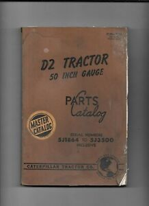 Vintage Caterpillar D2 Tractor Parts Master Catalog serial 5j1864 To 5j3500