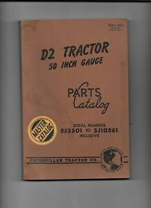 Vintage Caterpillar D2 Tractor Parts Master Catalog serial 5j3501 To 5j10561