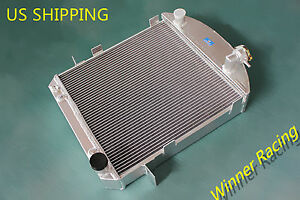 Aluminum Radiator Fit Ford Model T bucket Hot Rod W chevy 350 V8 1917 1927 70mm