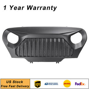 Front Bumper Grill Grille Angry Bird Matte Black For Jeep Wrangler Tj 1997 2006