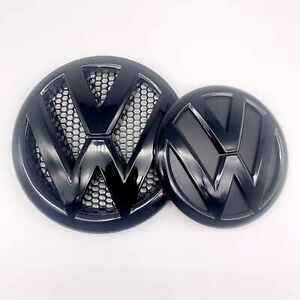 Volkswagen Vw Transporter T5 Gloss Black Badge Emblem Front Rear Badge Set Tdi