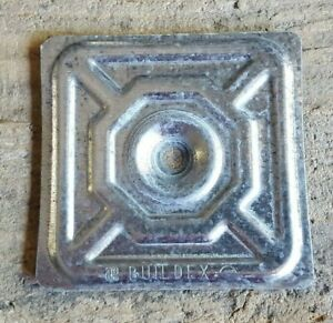 lot Of 25 Buildex Electrical Box Square Cover Plate 3 Metal Cover