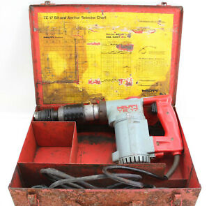 Hilti Te17 Rotary Hammer Drill Concrete Corded Electric With Metal Case