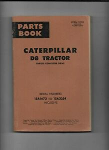 Vintage Caterpillar D8 Tractor Parts Master Catalog Serial 1h2409 To 1h6851