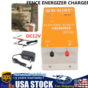 High voltage Pulse Fence Charger Solar Electric Ranch Fence Energizer 110v
