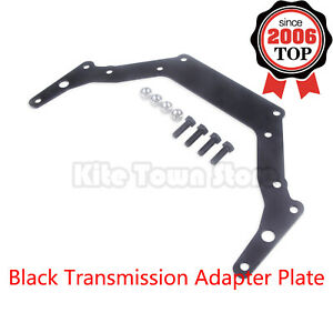 New Transmission Adapter Plate For Chevy 1962 up Th350 Th400 Bop to Black Us