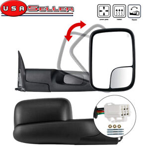 Flip Up Manual Tow Mirrors Left Right For 1998 2001 Dodge Ram 1500 98 02 2500