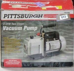 Pittsburgh 3 Cfm Two Stage Vacuum Pump t1
