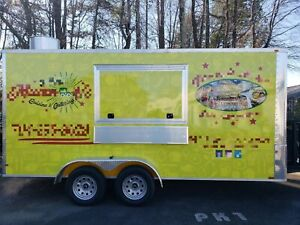 7 X 16 Custom Built Food Trailer Mobile Kitchen For Sale In North Carolina