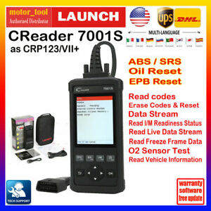 Launch X431 Cr7001s Obd2 Code Reader Car Diagnostic Scan Tool Abs Srs Oil Engine