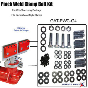 Pinch Weld Clamp Bolt Kit For Chief Generation 4
